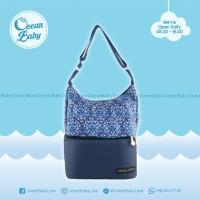 Tas Asi Natural Mom Blue Sofia/ Cooler Bag / Thermal Bag BONUS Ice Gel