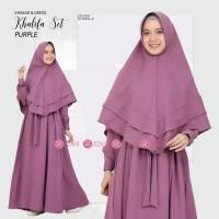 Khalifa Dress Set ( Gamis dan Khimar) Purple by Zizara