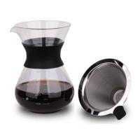 Coffee server V60 metal dripper 400ml Latina SandGlass Carafe set