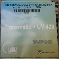 Lensa kacamata Leinz Photochromic + Anti Radiasi Blue Ray Transmatic