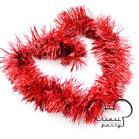 Slinger / Tinsel / Hiasan Natal / Hiasan Parcel / Slinger Merah