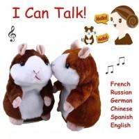 Talking Hamster Boneka Imut Bisa Bicara Peniru Suara dan Goyang