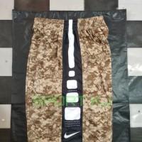 Celana basket nike elite army strip putih