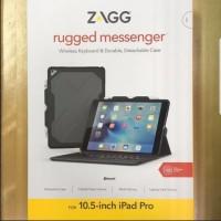 iPad Air 3 / iPad Pro 10.5 ZAGG Rugged Messenger Backlit Keyboard Case