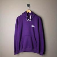 Stussy basic logo hoodie purple - Premium