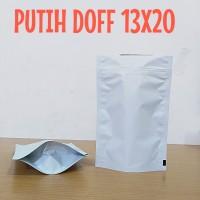 kenasan standing pouch putih doff 13x20cm