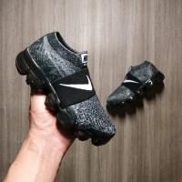 Sepatu Kids Anak Nike Vapormax Grey Black Slip On