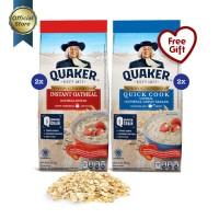 [Mix Pack] Quaker Instant & Quick Cooking Oatmeal 200g - 4 Pcs [GWP] P