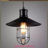 L575 lampu hias Gantung + kaca retro lighting vintage dekor kafe