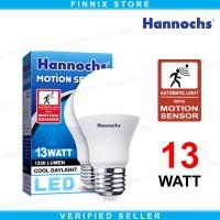 Hannochs Motion Sensor Lampu Bohlam LED 13 watt - Lampu Sensor Gerak