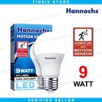 Hannochs Motion Sensor Lampu Bohlam LED 9 watt - Lampu Sensor Gerak
