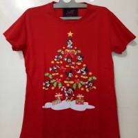 Kaos LCC tsum pohon natal Bahan cotton