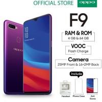 handphone OPPO F9 Smartphone 4GB/64GB Starry Purple ( Garansi Resmi