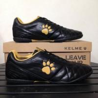 Sepatu Futsal Kelme Power Grip Black Gold 1102091 Original BNIB s