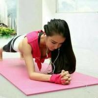 Matras Yoga-Karpet Yoga Anti Slip aksesoris olahraga