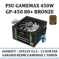 PSU GAMEMAX 450W GP-450 - 80+ Bronze Certified