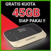 MiFi Router Modem WiFi 4G Smartfren Andromax M6 Plus TopUp 100K - 45GB