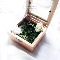 RING BOX - KOTAK CINCIN NIKAH - TEMPAT PERHIASAN - RINGBOX KAYU RUSTIC