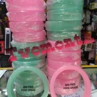 Mci rubber bioglass 2+ pelindung pengaman silicon karet soft biru pink