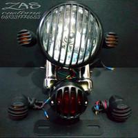 Paket Lampu Motor /Lampu CB / Lampu Japstyle Model tralis