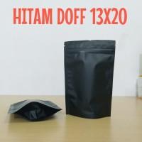 standing pouch hitam doff 13x20