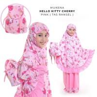 MUKENA ANAK HELLO KITTY CHERRY PINK (TAS RANSEL) XS