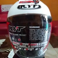 Helm Kyt kyoto putih solid