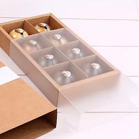 box kotak mika transparan kue cake dus packing natal christmas - Cokelat
