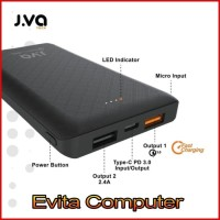 Power Bank JVA Tech The Smallest 10000mAh Quick Charge 3.0