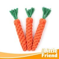 Mainan Gigitan Kunyah Anjing Kucing Tali Bentuk Wortel Chewing Dog Toy