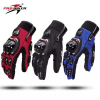 Sarung Tangan Gloves ProBiker Full Finger Pro Biker Gloves Full Finger - Merah, M