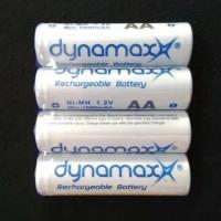BATRE CAS-RECHARGEABLE AA-DYNAMAX 1000mAH -HARGA 1PC BATRE