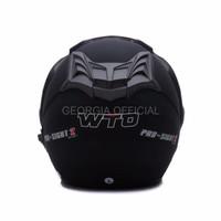 Helm Honda Helm Retro Helm Dewasa WTO Helmet Pro Sight Hitam Doff Pro