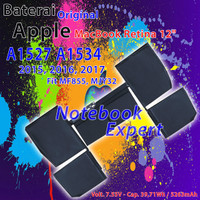 Baterai APPLE Macbook A1527, A1534 Macbook Pro Retina Display 12