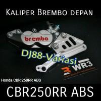 Kaliper Brembo depan cbr 250rr ABS 4piston 1pin CBR250rr Breket wr3