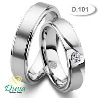 Cincin Kawin Tunangan Couple Emas Putih 50% dan Perak D.101