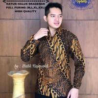 Kemeja Baju Batik Hem Pria Asli Solo Berkualitas Parang Sogan