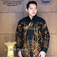 Kemeja Baju Batik Hem Pria Asli Solo Berkualitas Bambu Mulya