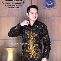 Kemeja Baju Batik Hem Pria Asli Solo Berkualitas Keris Sogan