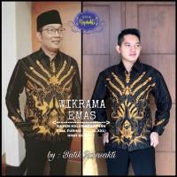 Kemeja Baju Batik Hem Pria Asli Solo Berkualitas Wikrama Emas