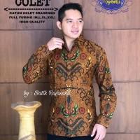 Kemeja Baju Batik Hem Pria Asli Solo Berkualitas Adinata Colet