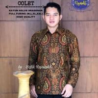 Kemeja Baju Batik Hem Pria Asli Solo Berkualitas Tritosumirat Colet