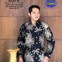 Kemeja Baju Batik Hem Pria Asli Solo Berkualitas Gardapari Colet 2