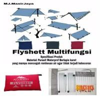 Flysheet 3x3M+Tongkat Tiang Frame+pasak+tali Paket Komplit termurah
