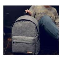 BP01 Korea Casual Canvas Backpack Pria Wanita/ Tas Kuliah Sekolah A613