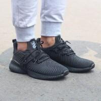 Sepatu Adidas Alphabounce Instinc Full Black. Running Sekolah Gym
