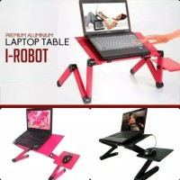 Meja Lipat Laptop portable Alumunium Model Robot