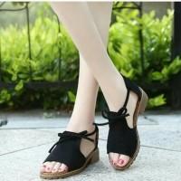 Sandal Wanita Teplek Hitam TP14