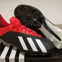 Sepatu Bola Soccer Adidas X 18 1 Next Gen Black Red White FG
