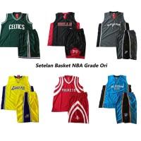 SETELAN JERSEY BASKET NBA- OBRAL SETELAN BASKET ALLSIZE GRADE ORI